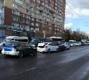 На Зеленстрое в Туле столкнулись четыре авто