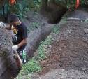 В Туле на ул. Смидович восстанавливают работоспособность ливневки