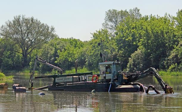 30 тыс. кубометров ила и древесины: в Белеве закончили расчистку Оки