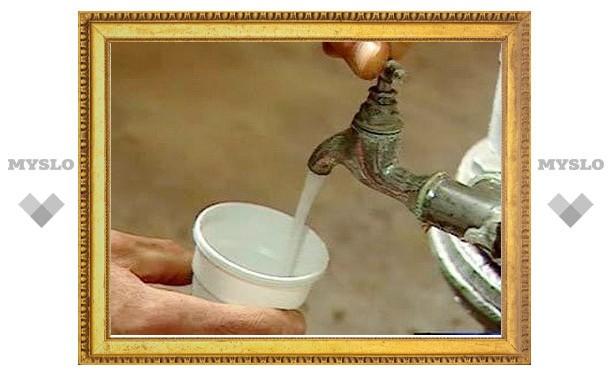 Из кранов туляков течет техническая вода