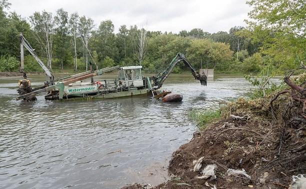 В рамках нацпроекта «Экология» в Рогожинском парке чистят пруд