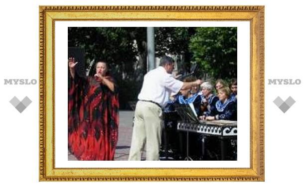 В центре Тулы прошел концерт под открытым небом