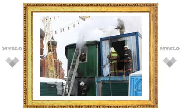 На главной площади Тулы устроили пожар
