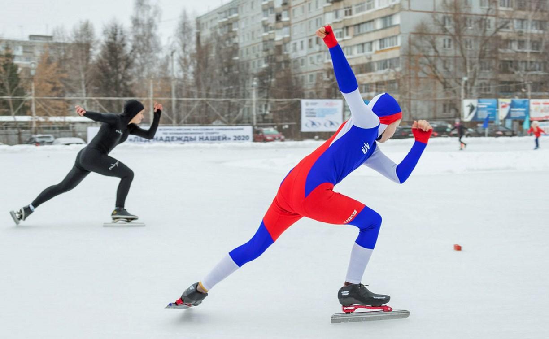 В Туле прошли массовые конькобежные соревнования «Лед надежды нашей — 2020»: фоторепортаж