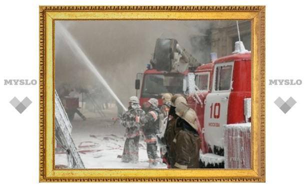 В Пролетарском районе Тулы сгорел дом