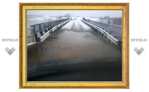 8 апреля на 18.20 в Тульской области подтоплено 16 мостов