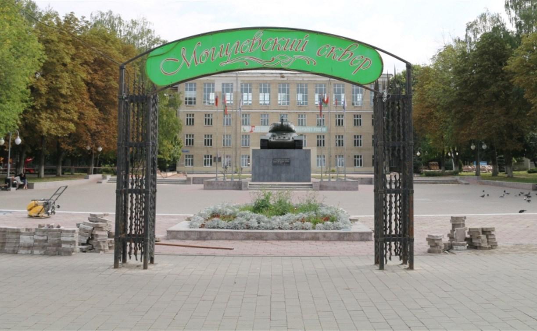 В Туле реконструируют Могилевский сквер