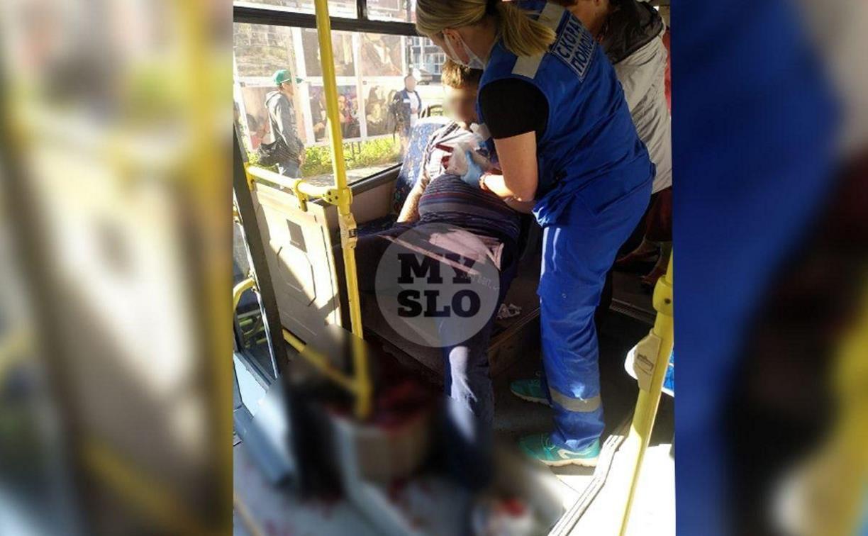 В Туле из автобуса госпитализировали мужчину с ножевым ранением