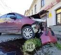 На проспекте Ленина в Туле вылетевшая на тротуар иномарка сбила человека