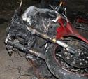 В Туле мотоцикл сгорел после столкновения с маршруткой