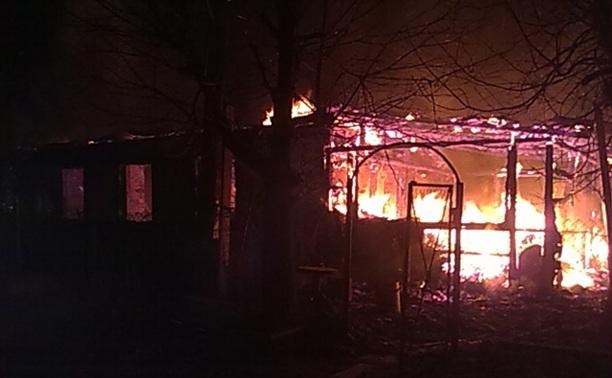 В Дубенском районе сгорел жилой дом