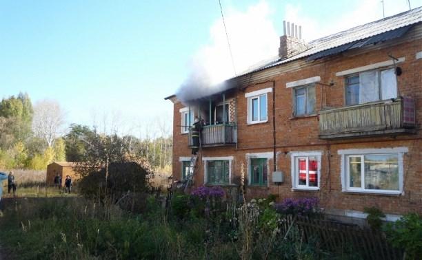 В Богородицком районе мужчина погиб во время пожара