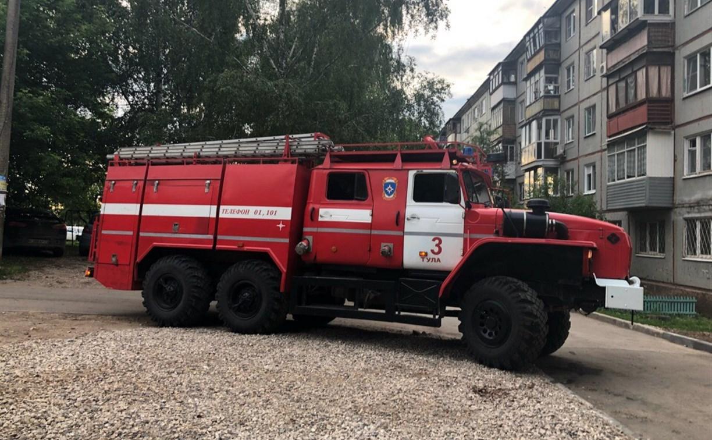 На ул. Крупской в Туле произошел пожар