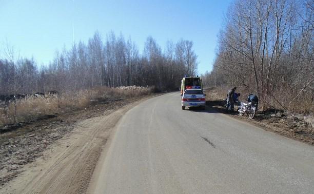 В аварии в Тульской области пострадал пьяный скутерист