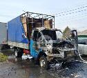 На улице Кутузова в Туле внезапно загорелась «Газель»