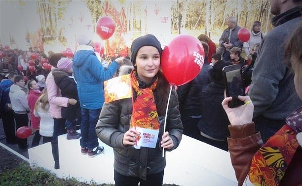 В Ясной Поляне встречают олимпийский огонь
