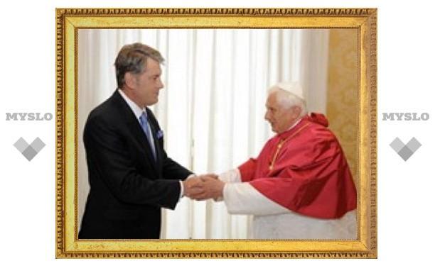Папа Римский принял Виктора Ющенко с супругой