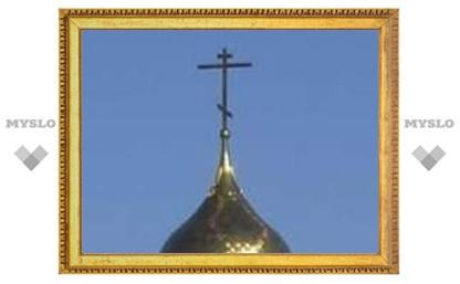 Новые кресты на старом тульском храме