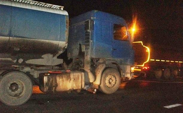 В Плавске сгорел грузовик с калужскими номерами