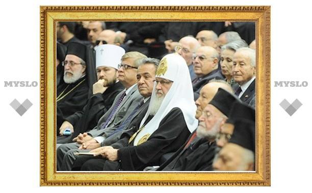 Предстоятель Русской Православной Церкви выступил перед преподавателями и учащимися