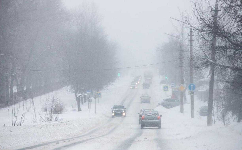 Из-за снегопада в Тульской области в два раза увеличилось количество ДТП