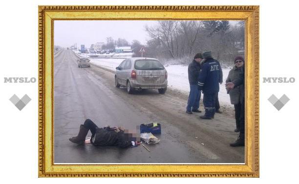 Под Тулой иномарка сбила пенсионерку