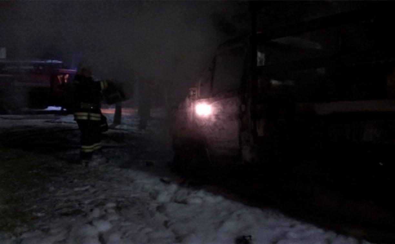 Ранним утром в Туле горела «Газель»