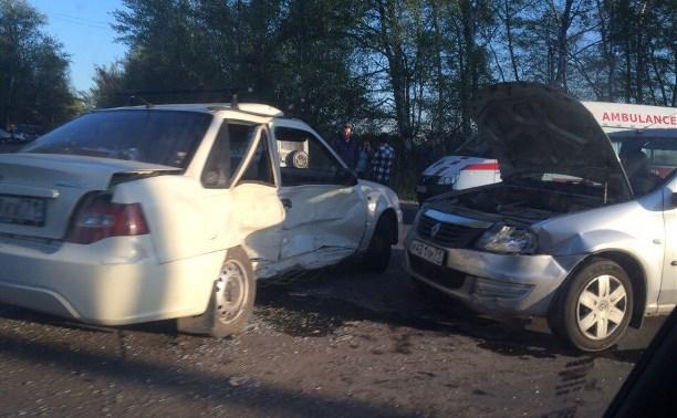 Авария при въезде в Новомосковск