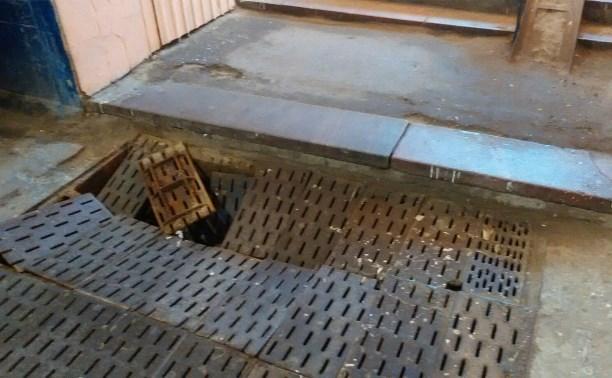 В подземном переходе на улице Каминского провалился пол