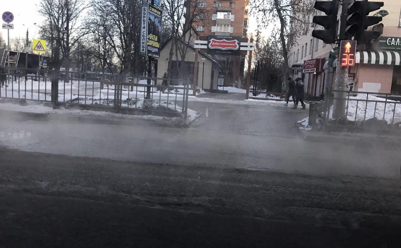 На Красноармейском проспекте в Туле ремонтируют водовод