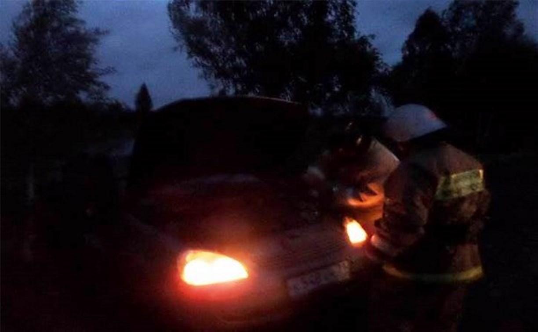 В Кимовском районе «Лада Приора» съехала в кювет