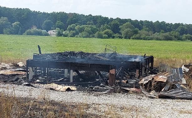 На фестивальном поле «Дикой Мяты» в Бунырево произошел пожар