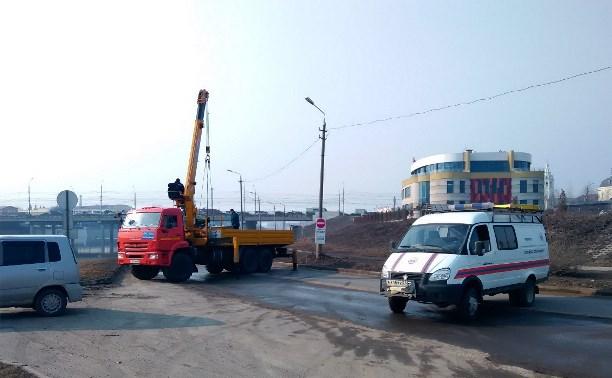 Набережную Дрейера перекрыли из-за затопления дороги