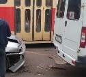 В Туле столкнулись ВАЗ-2113 и маршрутное такси