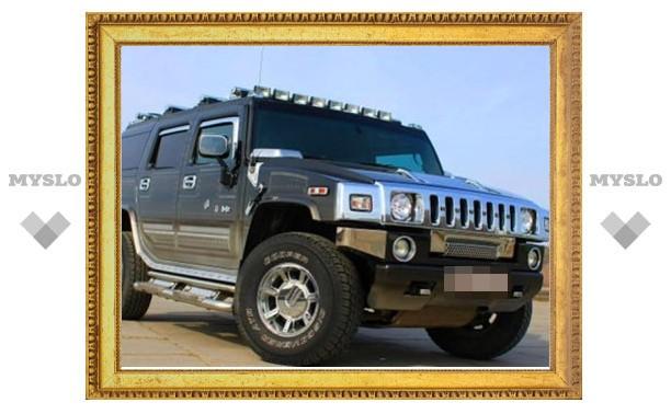 За огромные долги у жителя Тульской области арестовали Hummer