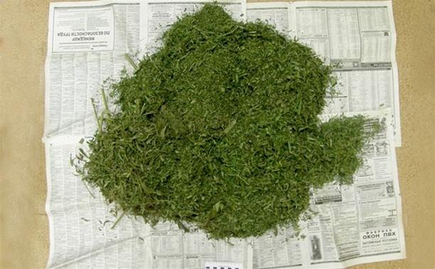 В гараже жителя Ясногорска нашли больше трех килограммов марихуаны