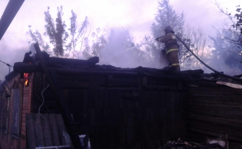 Под утро в Кимовске сгорел дом