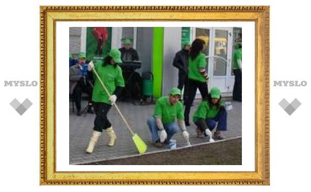 Зеленый субботник в центре Тулы