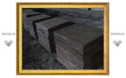 9 мая под Тулой украли чугунные плиты