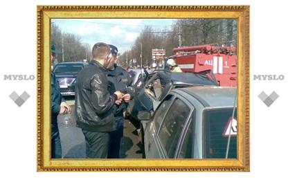 В Туле столкнулось шесть машин