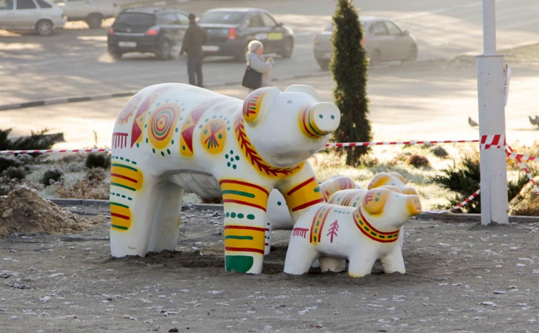 В сквере «Тульское чаепитие» появилась детская площадка