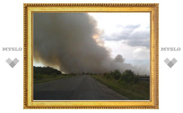 """Туляк в """"Twitter"""" сообщает о пожарах на полях в Тульской области"""