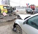 В ДТП на Восточном обводе в Туле пострадали два человека: фоторепортаж и видео