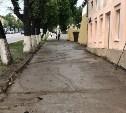 На пр. Ленина в Туле демонтировали смытую дождем плитку