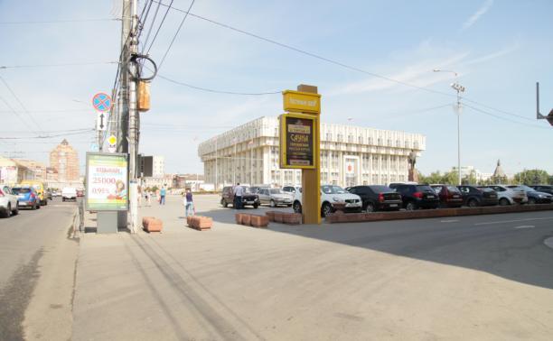 Власти решили проблему со стихийной парковкой на площади Ленина