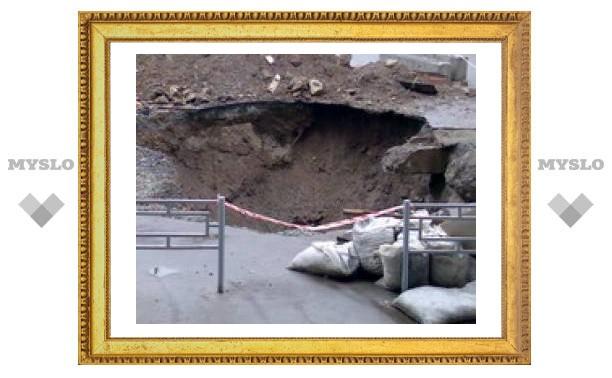 В Туле незаконно роют ямы
