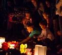 Туляки запустили в Центральном парке водные фонарики