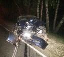 В Щекинском районе Lancer улетел в кювет и врезался в дерево