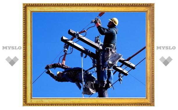 В Туле 726 домов остались без электричества