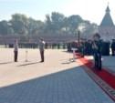 19 сентября в Туле прошла церемония вручения знамени управлению МВД